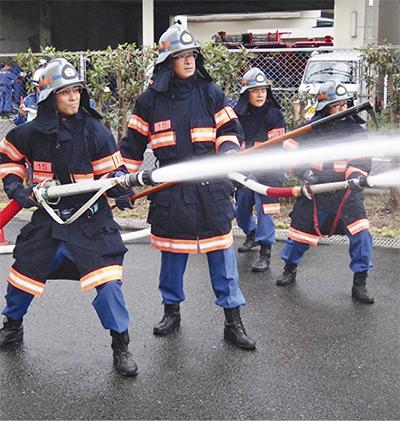 火災想定し訓練