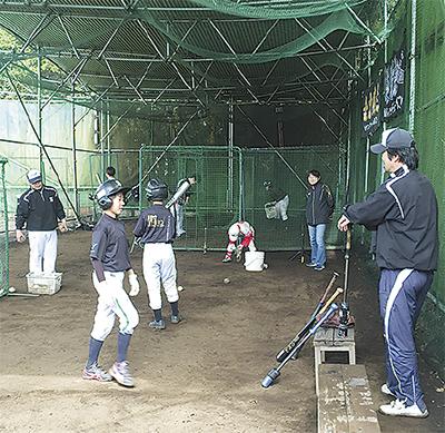 中学硬式野球の体験会