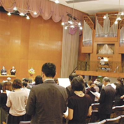 70周年祝い記念礼拝