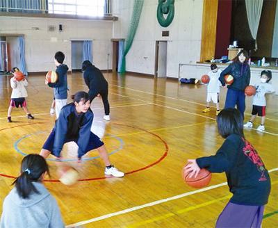 実業団指導のバスケ教室