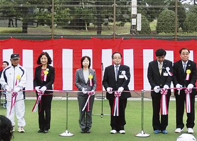 新テニス場が供用開始