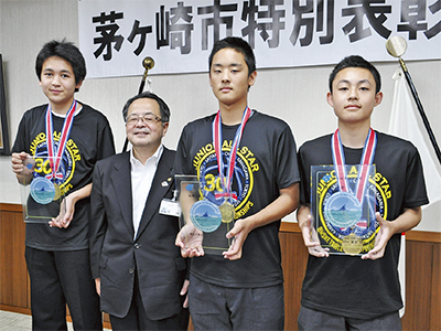 3選手に市特別表彰
