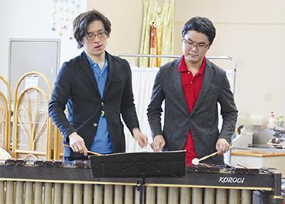 打楽器の魅力を体験