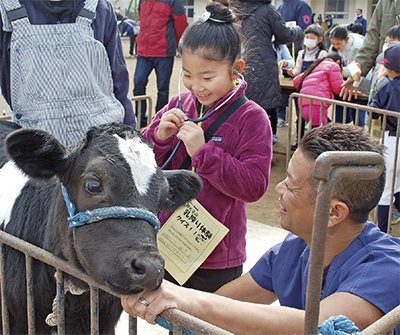 牛とふれあい地域交流
