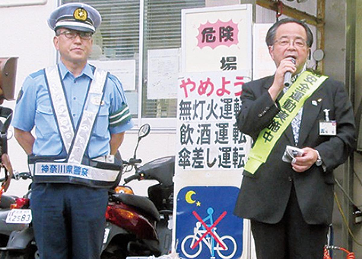 無灯火自転車・盗難を啓発