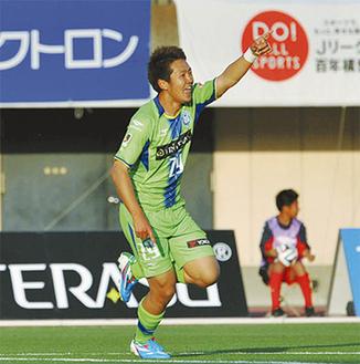 今季初出場で2得点をマークした吉濱