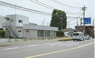 場所は町役場近くの産業通り沿い