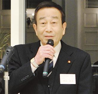 食の安全を訴える隅田会長
