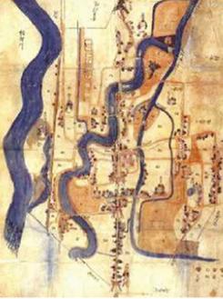 宮山村地図(寒川神社蔵)