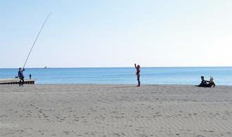 サザンビーチちがさきでの撮影風景