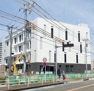 工事が進む移転先の茅ケ崎警察署
