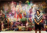 熊野海さん大作を展示
