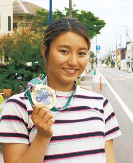 五輪切符をつかんだ松田さん(写真は6月の取材時)