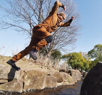 忍者の衣装は30年前に甲賀で購入したもの