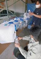 1日から除菌水配布