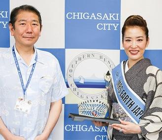 茅ヶ崎市長を表敬訪問した