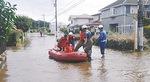 平成26年の被害の様子(岡田の住宅地提供写真)