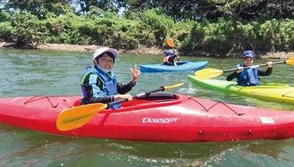 相模川の水面に浮かぶチャンス