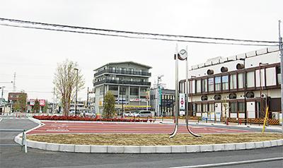 駅前広場の利用開始