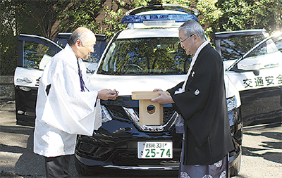交通安全指導車を寄贈