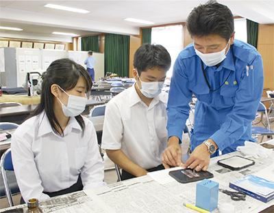 高校生が業務体験