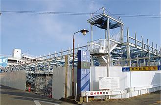 建設中の西口第1駐輪場