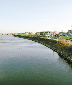 下花水橋から見た唐ヶ原