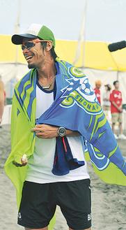 湘南ベルマーレビーチバレーチームの白鳥選手