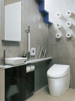 同社のモデルルーム「トイレの体験館」も自由に見学できる