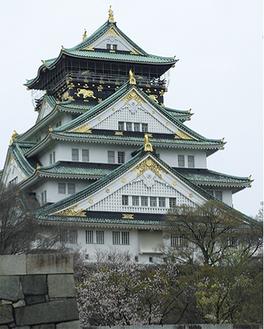 内藤さんが撮影した大阪城