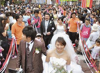 昨年の七夕結婚式