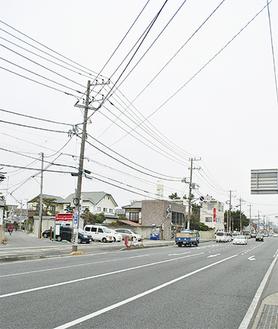 追分側から富士見町を望む