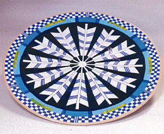 展示予定の絵皿