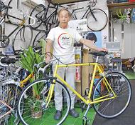競輪選手が通う自転車屋さん