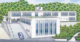 「白いお城」がイメージの新園舎
