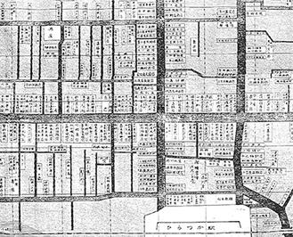 発見された平塚駅前の地図