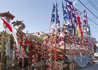 御船祭に登場する船形の山車