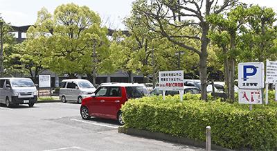 総合公園の北駐車場