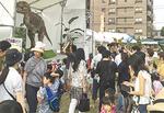 昨年の恐竜ロボット展示の様子(石川正行さん提供)