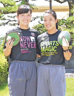 インターハイに出場する大迫さん(左)と浦田さん