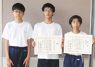 (左から)鷲頭さん、森田さん、久保田さん