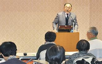講演する田村氏(写真は昨年)
