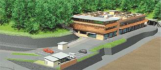 新動物保護センター完成イメージ(神奈川県提供)