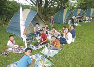 昨年キャンプの様子