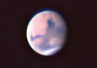 同館が撮影した火星