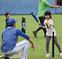 ベイOBが野球教室