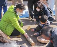 シイタケ栽培を体験