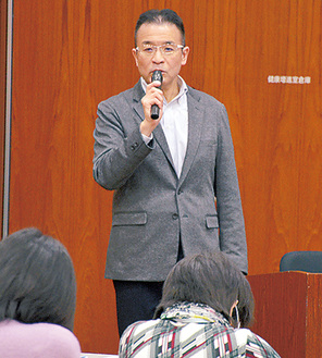講演した木村代表