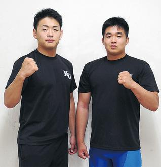 アジア大会に出場する奈須川さんと佐川さん