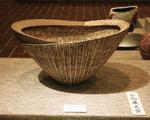 馬場さんの受賞作 『炭化化粧紋楕円鉢』